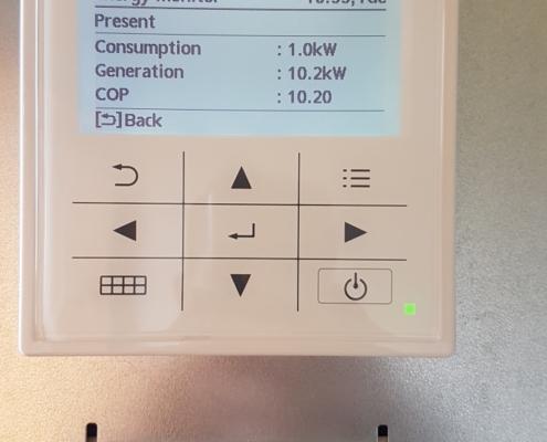 Panasonic Aquarea valdymo pultas